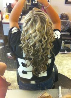 My hair for the football game! Done by my mother