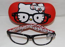 HELLO KITTY Clear Eyeglasses and Case RED / BLACK Frames
