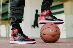 """SHOP: Nike Air Jordan 1 Retro High OG """"Bred"""" kickbackzny.com"""