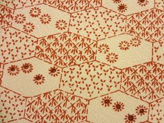 Floral silk Japanese kimono  fabric  14x58 by KIMONOCARDS on Etsy, $10.00