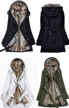 Abrigo de piel sintética, abrigo, abrigo negro, capa con capucha, chaqueta con cinturón, gabardina con forro de piel sintética, extremadamente caliente