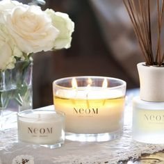 Add a little touch of natural luxury to your home with any of the travel and 3 Wick Candles from NEOM. The perfect gift.