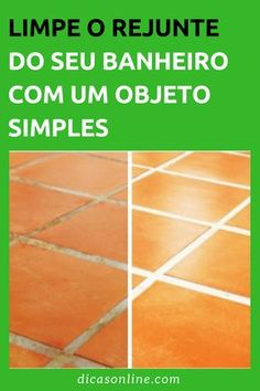 Como limpar rejunte de banheiro Dream House Plans, Clean Up, Tile Floor, Diy And Crafts, Household, Good Things, Malu, Nova, Household Cleaning Tips