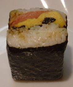 Hawaiian Spam Musubi - No seafood so safe for Mom and Baby.