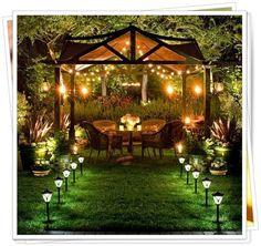 5 Absolutely Gorgeous Backyard Designing Ideas (at Night) ~ Love-sepphoras