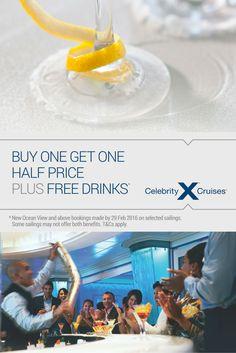 Back by Popular Demand - Celebrity Cruises Buy One Get One Half Price & Free Drinks*   (T&Cs apply) #CelebrityCruises #Cruises #Luxury