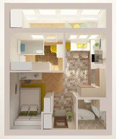70 Best Ideas For Apartment Style House Floor Plans Sims House Plans, Small House Plans, House Floor Plans, Studio Apartment Design, Apartment Layout, Studio Apartments, Small Apartment Plans, Sims 4 House Design, Casas The Sims 4