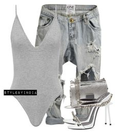 """Untitled #1731"" by stylebyindia ❤ liked on Polyvore featuring OneTeaspoon, Jimmy Choo and Giuseppe Zanotti"