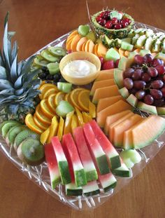 Hot and Cold Running Mom - Just my Stuff: Zesty Yogurt Dip with Fruit Platter - Dehily Party Food Buffet, Party Food Platters, Fruit Platters, Fruit Buffet, Small Food Processor, Food Processor Recipes, Fruit Platter Designs, Healthy Snacks, Healthy Recipes