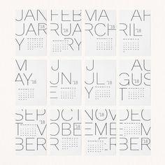 Type Calendar Inspiration for graphic design students. Graphic Design Calendar, Graphic Design Magazine, Wall Calendar Design, Calendar Layout, Art Calendar, Kids Calendar, Desk Calendars, Magazine Design, Minimal Calendar