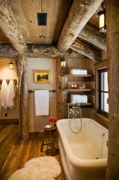 Pics Of Rustic Bathrooms, Rustic Elegance Re Defined In A Big Sky Mountain Retreat, Small Rustic Bathrooms 15 Fabulous Ideas for Everyone, 31 Best Rustic Bathroom Design and Decor Ideas for . Rustic Bathroom Designs, Rustic Bathrooms, Bathroom Interior Design, Cabin Interior Design, Cabin Design, Dream Bathrooms, Log Cabin Bathrooms, Rustic Cabin Bathroom, Wood Bathroom