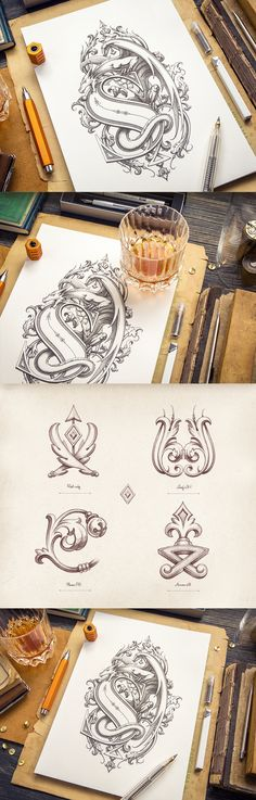 Awesome drawing and illustrations Dragon_-_making_of