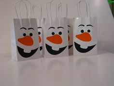 Olaf Party Favor Bags Set of 8 by RMCreativeDesigns on Etsy