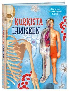 Kurkista ihmiseen -kirja tarjoaa mahtavan tilaisuuden katsoa, miten ihosi, lihaksesi, verenkiertosi ja muut kehosi osat toimivat. Sivujen läpinäkyvät kalvot kuvaavat kerros kerrokselta, miten ihmisruumis rakentuu. Kirjasta löytyy myös hauskoja pikku testejä, joiden avulla pääset itse havainnoimaan kehon eri toimintoja. Cover, Books, Movie Posters, Art, Art Background, Libros, Film Poster, Book, Popcorn Posters