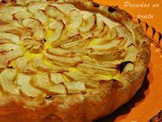 Tarte de maçã com creme pasteleiro