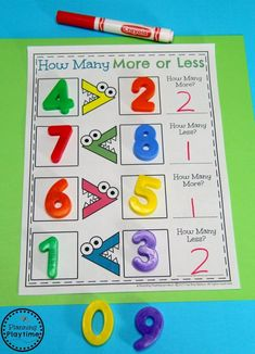 Greater than Less Than - Comparing Numbers Activities for Kindergarten Number Worksheets Kindergarten, Fun Math Games, Math Literacy, Preschool Math, Kindergarten Worksheets, Teaching Math, Comparing Numbers Worksheet, Math For Kids, Math Numbers