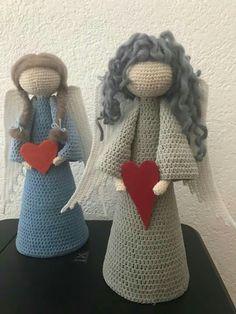 Angel Crochet Pattern Free, Crochet Angels, Free Pattern, Crochet Patterns, Crochet Home, Crochet Gifts, Knit Crochet, Christmas Toys, Christmas Knitting