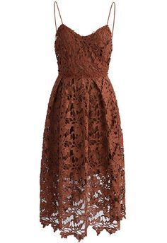 Ingenious Crochet Cami Dress in Tan - New Arrivals - Retro, Indie and Unique Fashion