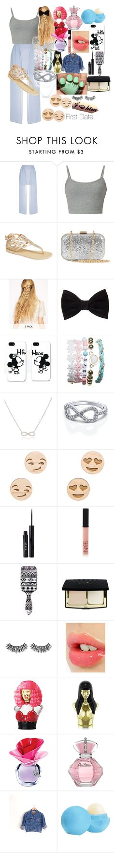 """First Date"" by rosie443 on Polyvore featuring River Island, Ancient Greek Sandals, NLY Accessories, Love Rocks, Forever 21, Samsung, Wet Seal, Adina Reyter, GoodWood and Stila"