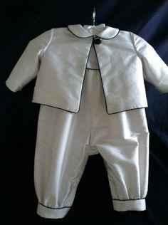 Boys Irish Celtic christening baptism baby outfit three piece. $175.00, via Etsy.