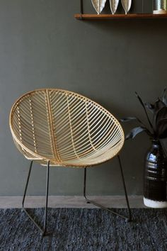 Mid century modern arthur umanoff style wicker basket for Difference between rattan and wicker furniture