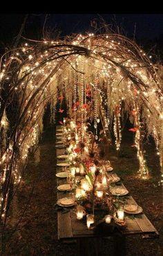 Beatiful medieval fantasy wedding dinner