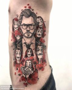 Wonderful Sketchy Watercolor Tattoos By Felipe Mello – Leaky Lifeboat Time Tattoos, Body Art Tattoos, Sleeve Tattoos, Tatoos, Tatuajes Tattoos, Money Wallpaper Iphone, Handpoked Tattoo, Tattoo Off, Tattoo Magazine