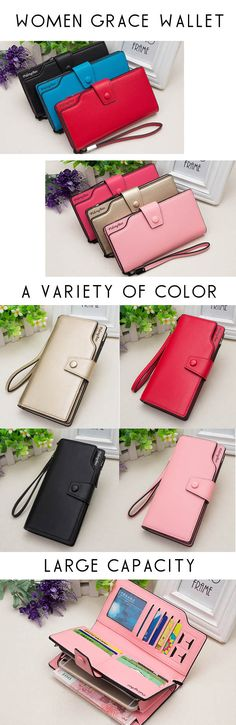 US$13.79+Free shipping. Women Wallet, Cellphone Wallet, Clutch Wallet. 11 Credit Card Holder,1 Cellphone Pocket,1 Photo  Holder, PU Leather, Eight colors for your choice.