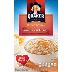 Quaker Instant Oatmeal, Peaches and Cream, Breakfast Cereal, 10 (1.23 Oz) Packets Per Box (Pack of 4) *** New and awesome product awaits you, Read it now  - Fresh Groceries