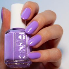 Always be in style with a luscious lilac shade like essie 'sittin pretty'. It's to die for.