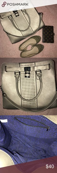Metallic Unicorn 🦄 Large Satchel Very similar to Michael Kors Large Hamilton. Never used and it does not have a brand. The pictures do not show it's true Beauty! SassyEllie Bags Satchels