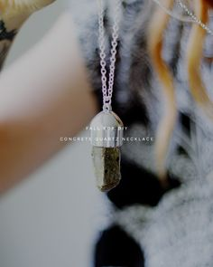 Fall For DIY Concrete Quartz Pendant Necklace copy