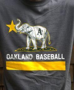 Oakland A's California Flag T Shirt with Elephant | Bear Flag Museum