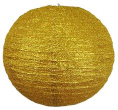 "Shimmer and sparkle with Just Artifacts glitter paper lanterns!   16"" Gold Glitter Paper Lantern"