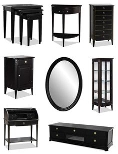 Black old style furniture