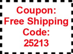 FREE Shipping Coupon through February 25th.  FREE SHIPPING IS IMPORTANT.  WOOT!