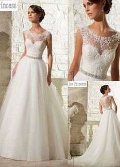 New White/ivory Wedding dress Bridal Gown custom size 6-8-10-12-14-16-18+++
