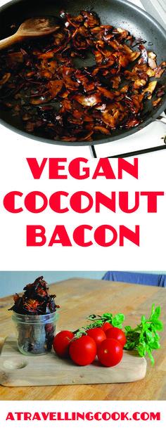 Salty, sweet, crispy, savoury coconut bacon!