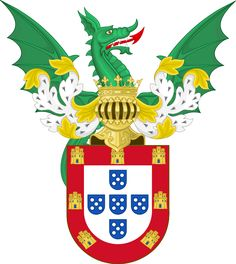 Ornamented Royal Coat of Arms of Portugal (Philip I)