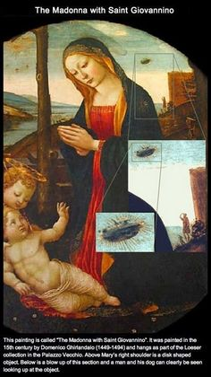 The Madonna With Saint Giovannino......and a UFO?