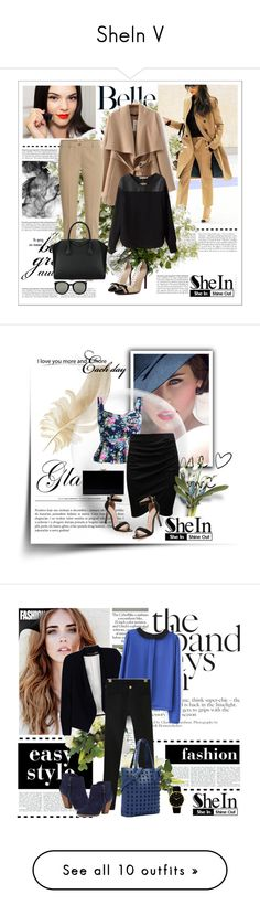 """SheIn V"" by nermina-okanovic ❤ liked on Polyvore featuring New Growth Designs, Nearly Natural and Chanel"