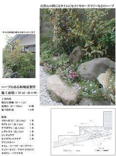 谷村庭園 施工例 ハーブのある和風庭 自然石を生かした和風の庭にハーブ類のグランドカバー Herbs, Garden, Plants, Garten, Lawn And Garden, Herb, Gardens, Plant, Gardening