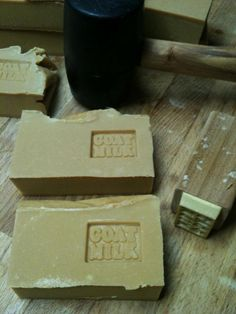 Stamped soap is earthy.