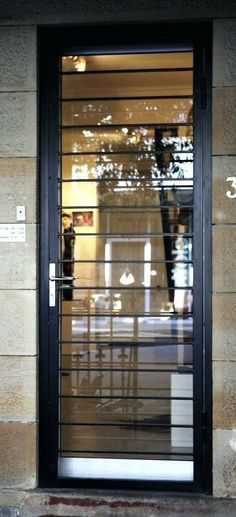 Glass door design entrance wrought iron 58 new Ideas Iron Front Door, Modern Front Door, Glass Front Door, Glass Door, Front Doors, Door Grill, Grill Door Design, Front Door Design, Window Grill Design Modern