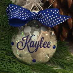 A personal favorite from my Etsy shop https://www.etsy.com/listing/199045423/cheerleader-with-pompoms-ornament