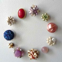 Vintage jewelry Magnets