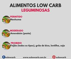 LOW CARB: ALIMENTOS PERMITIDOS, MODERADOS E PROIBIDOS Keto Diet Plan, Low Carb Diet, Ketogenic Diet, Dieta Low, Light Diet, Diets For Beginners, Low Carbon, Food And Drink, Cooking Recipes