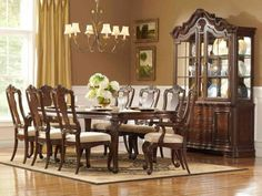 Dining Room Yellow Curtain Window Curio Cabinet Chandelier Flower Vase White Roses Dining Set Cream Carpet Painting Wooden Floor Ceramic Plate How to Make a Deal with Dining Room Furniture Purchase