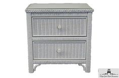 5 Drawer 1 Door Wicker Chest Elana White Wicker