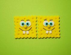 12 Edible Fondant Spongebob Cupcake by EdibleDesignsByLetty